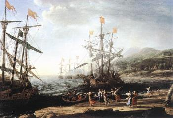 Claude Lorrain : Marine with the Trojans Burning their Boats