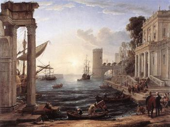 Claude Lorrain : Seaport with the Embarkation of the Queen of Sheba