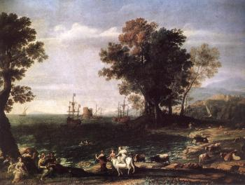 Claude Lorrain : The Rape of Europa