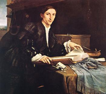 Lorenzo Lotto : Portrait of a Gentleman in his Study