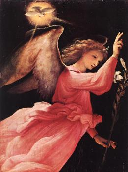 Lorenzo Lotto : Angel Annunciating