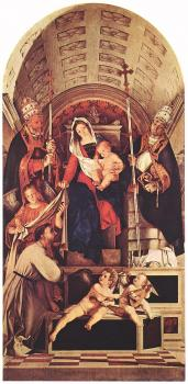 Madonna and Child with Sts Dominic, Gregory and Urban
