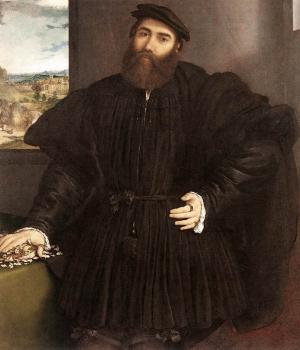 Lorenzo Lotto : Portrait of a Gentleman