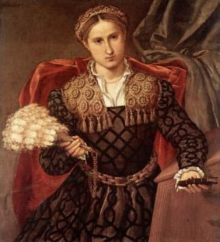 Lorenzo Lotto : Portrait of Laura da Pola