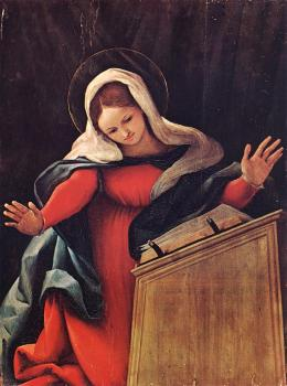 Lorenzo Lotto : Virgin Annunciated