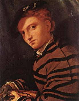 Lorenzo Lotto : Young Man with Book