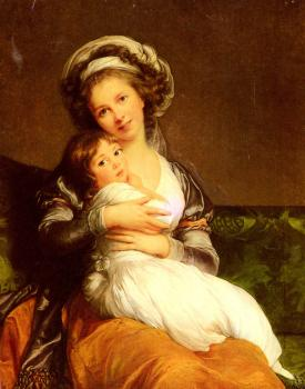 Louise Elisabeth Vigee Le Brun : Mrs Vigee-Lebrun and her daughter, Jeanne Lucie Louise
