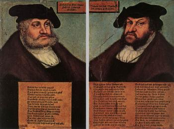 Portraits of Johann I and Frederick III the wise