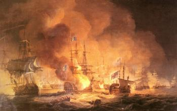 Thomas Luny : Battle of the Nile, August 1st 1798
