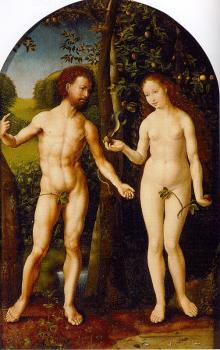 Jan Mabuse : Gossaert Thyssen Adam and Eve