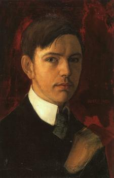 August Macke : Self portrait