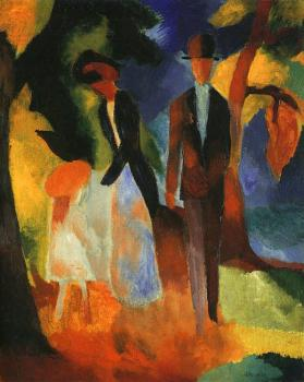 August Macke : People at the blue lake