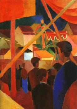 August Macke : Tightrope walker