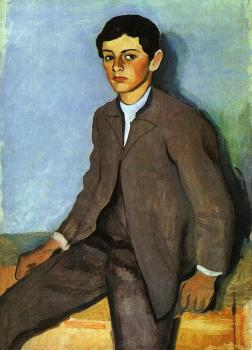 August Macke : Farmboy from Tegernsee