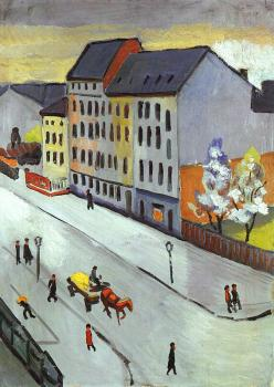 August Macke : Our Street in Gray