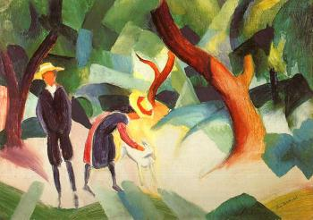 August Macke : Children with Goat