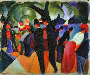 August Macke : A Stroll on the Bridge