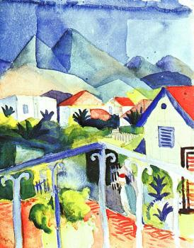 August Macke : St.Germain near Tunis