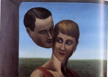 Rene Magritte : the lovers IV