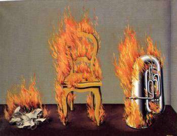 Rene Magritte : the ladder of fire