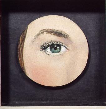 Rene Magritte : painted object eye