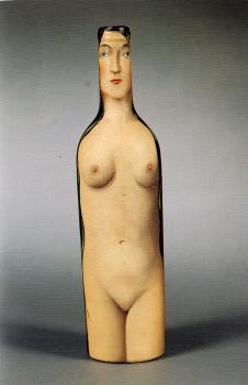 Rene Magritte : woman-bottle
