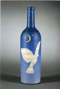 Rene Magritte : night sky with bird