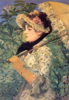 Edouard Manet : Spring (Study of Jeanne Demarsy)