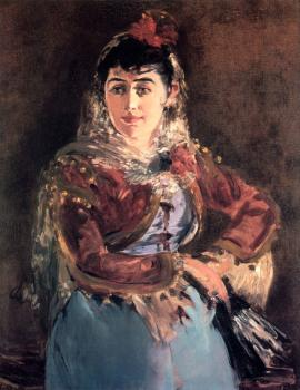 Edouard Manet : Portrait of Emilie Ambre in the role of Carmen