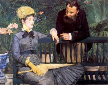 Edouard Manet : In the Conservatory (Study of M. and Mme Jules Guillemet)