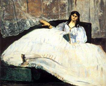 Edouard Manet : Baudelaire's Mistress Reclining (Study of Jeanne Duval)