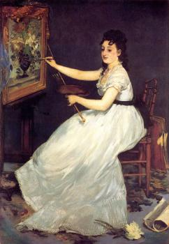 Edouard Manet : Portrait of Eva Gonzales