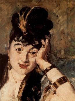 Edouard Manet : Woman with Fans (Nina de Callias) (detail)