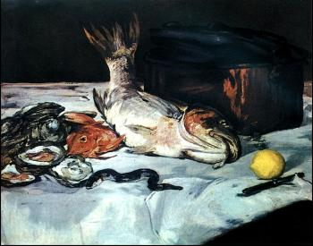 Edouard Manet : Fish and Oyster