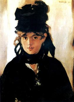 Edouard Manet : Berthe Morisot with a bouquet of violets