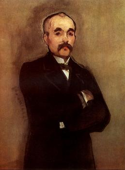 Edouard Manet : Portrait of Georges Clemenceau