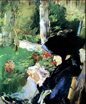Edouard Manet : Mother in the Garden at Bellevue