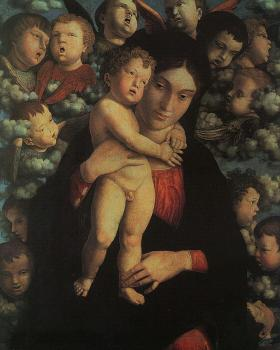 Andrea Mantegna : Madonna and Child with Cherubs