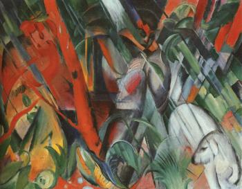 Franz Marc : In the Rain
