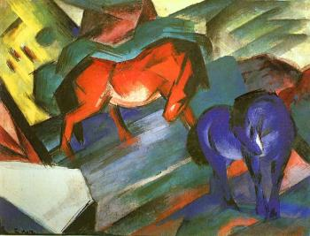 Franz Marc : Red and Blue Horse