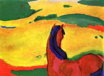 Franz Marc : Horse in a Landscape