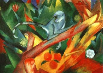 Franz Marc : The Monkey
