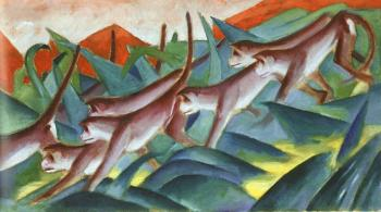 Franz Marc : Monkey Frieze