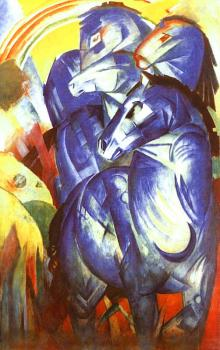 Franz Marc : The Tower of Blue Horses