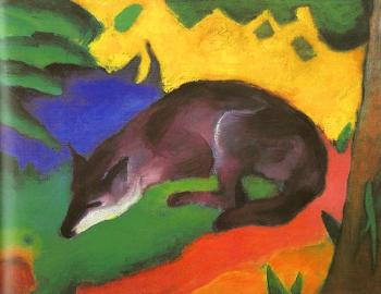 Franz Marc : Blue Fox