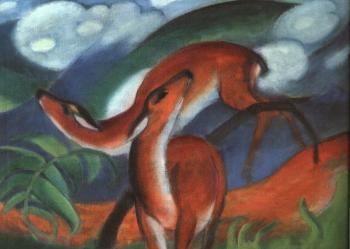 Franz Marc : The Red Deer