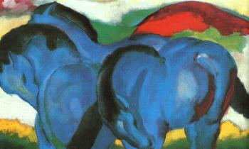 Franz Marc : The Little Blue Horses
