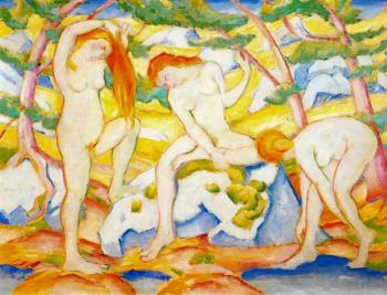 Franz Marc : Franz Marc Bathing Girls