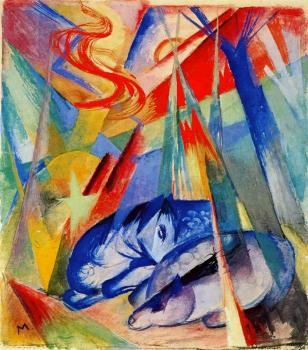 Franz Marc : Sleeping Animals