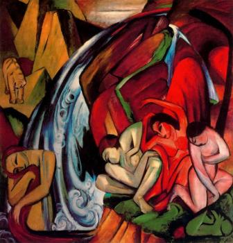 Franz Marc : The Waterfall